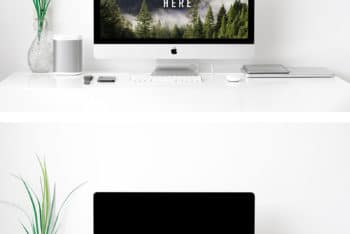 Apple iMac PSD Mockup for Creating Realistic Presentation