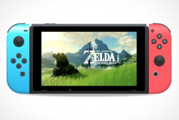 Free Nintendo Switch Console Mockup in PSD