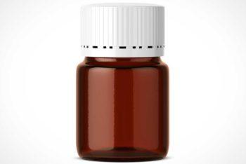 Free Customizable Pharmacy Pill Jar Mockup