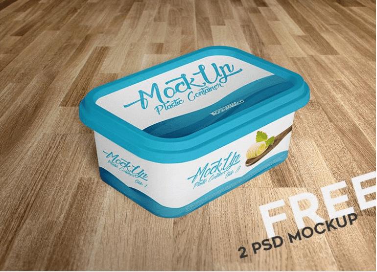 Plastic Container PSD Mockup Design
