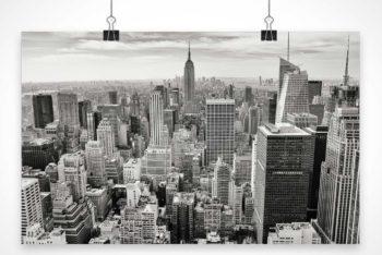 Free Improvised Hanging Poster Mockup