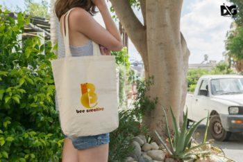 Shoulder Bag PSD Mockup for Shopping Purpose