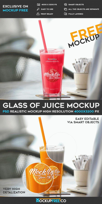 Juice Glass Plus Straw