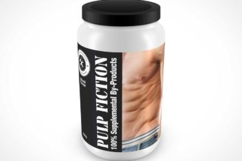 Free Protein Whey Container Mockup in PSD
