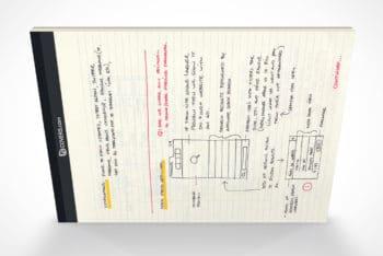 Free Landscape Stationery Notepad Mockup