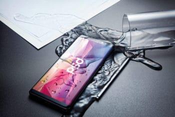 Free Waterproof Samsung Smartphone Mockup