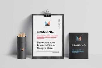 Branding Identity Mockup in PSD
