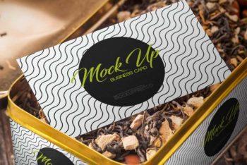 Awesome Tin Box Tea Packaging Mockup Freebie