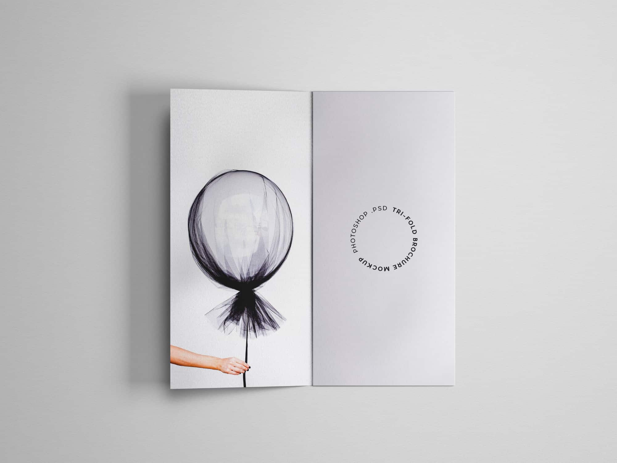 A4 Sized Tri-fold Brochure PSD Template Design