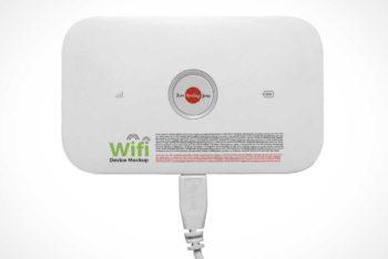 Free Portable WiFi Device Mockup