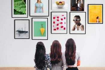 Free Photo Frames Gallery Mockup