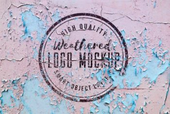 Free Weathered Logo Design Mockup