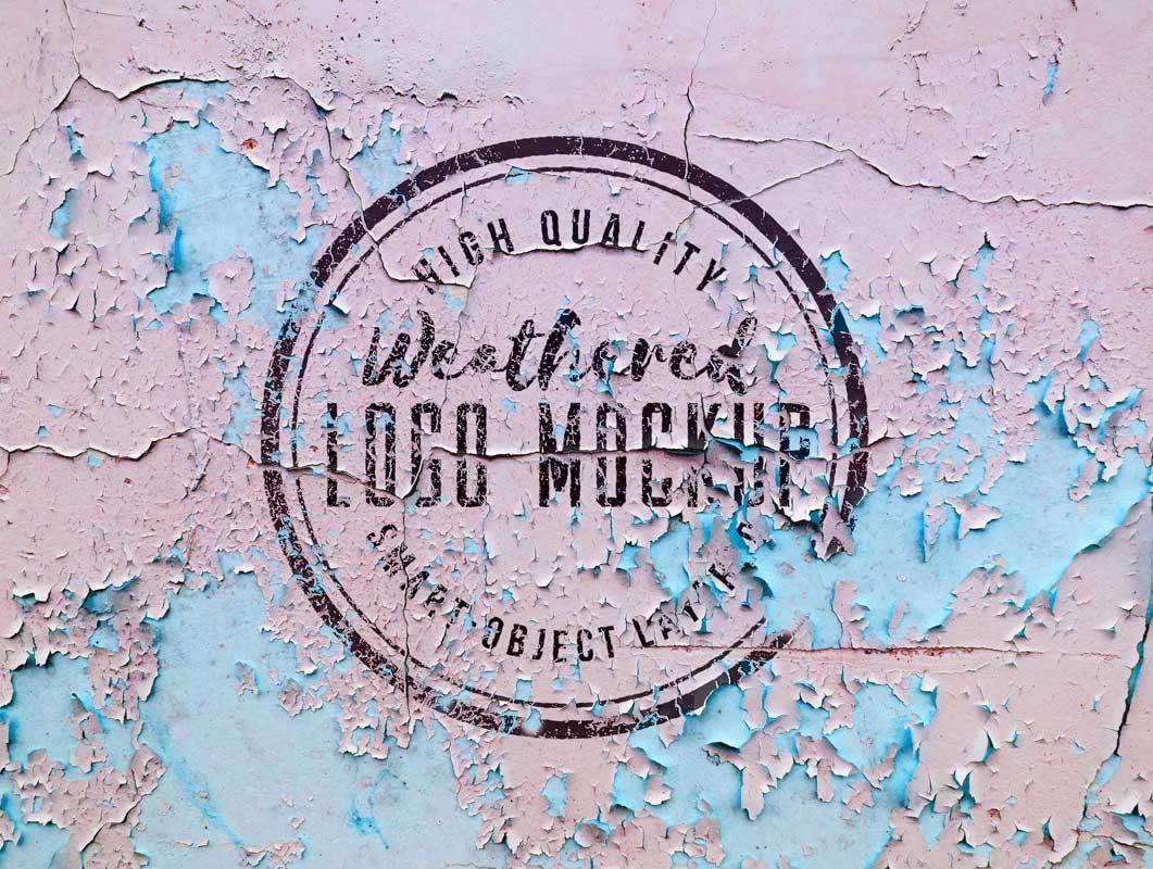 Weathered Logo Design