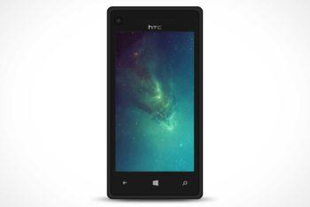 Free HTC Windows Phone Mockup in PSD