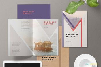 Free Download A5 Brochure Mockup