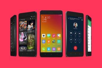 Free Multiple Smartphone Designs Mockup
