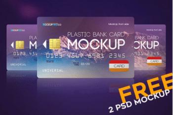 Plastic Bank Card PSD Mockup Design for Free
