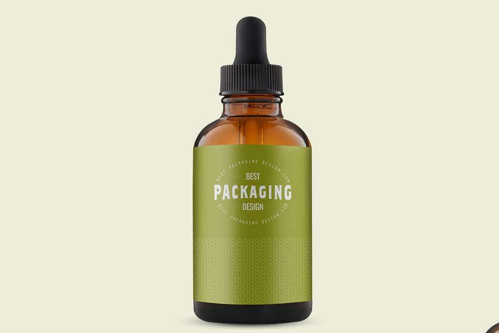 beard oil bottle mockup