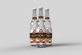 Free Beer Bottle Mockup in PSD
