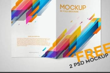 Bi-fold Brochure PSD Mockup with Easy to Edit Features