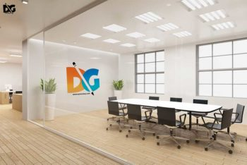Free Download Board Meeting Room Logo Mockup