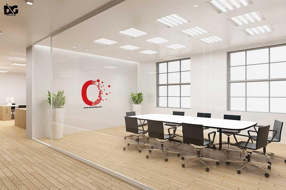 board meeting room logo mockup