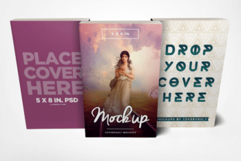 Paperback Book PSD Mockup (A Set Of 3)