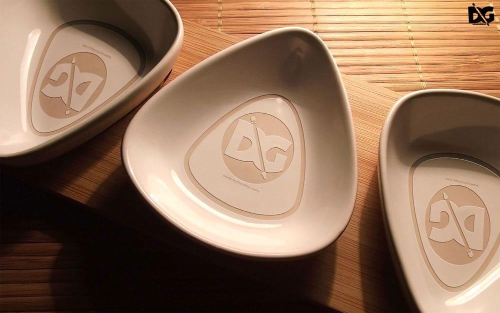 free slate bowl mockup