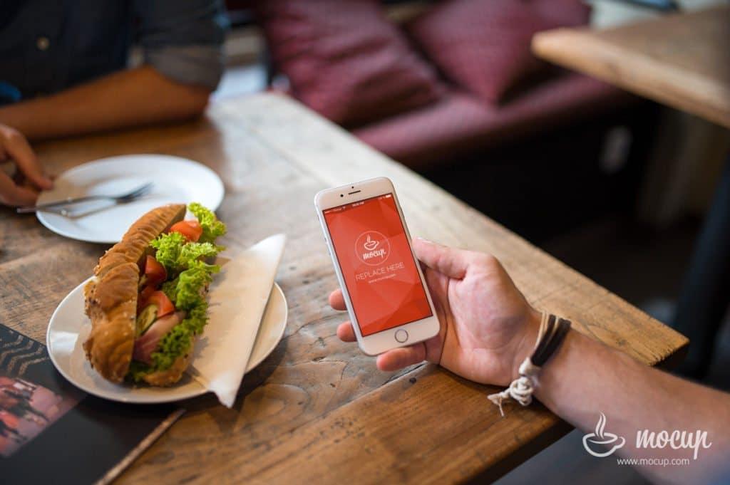iPhone Plus Sandwich Scene