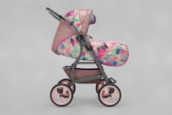 Free Cute Baby Buggy Mockup in PSD