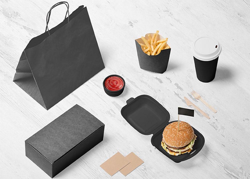 burger branding psd mockup