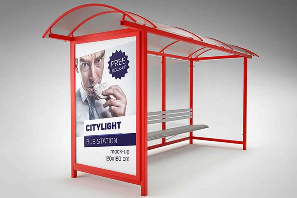 bus station mockup