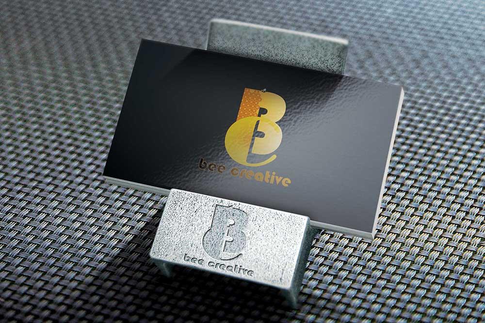 card holder logo mockup
