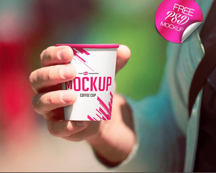 Coffee Cup PSD Mockup Design
