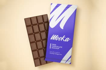 Free Chocolate Bar Mockup In PSD