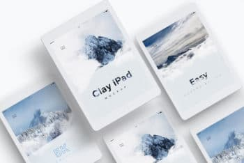 Clay iPad PSD Mockup