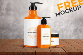 Cosmetic Products Set PSD Mockup – Sober Look & Useful Features