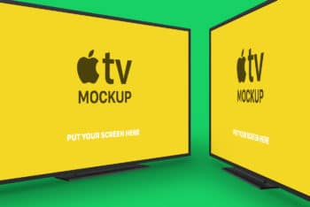 Free Apple TV Plus Accessories Mockup