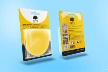 Free Blister Pack Tape Mockup in PSD