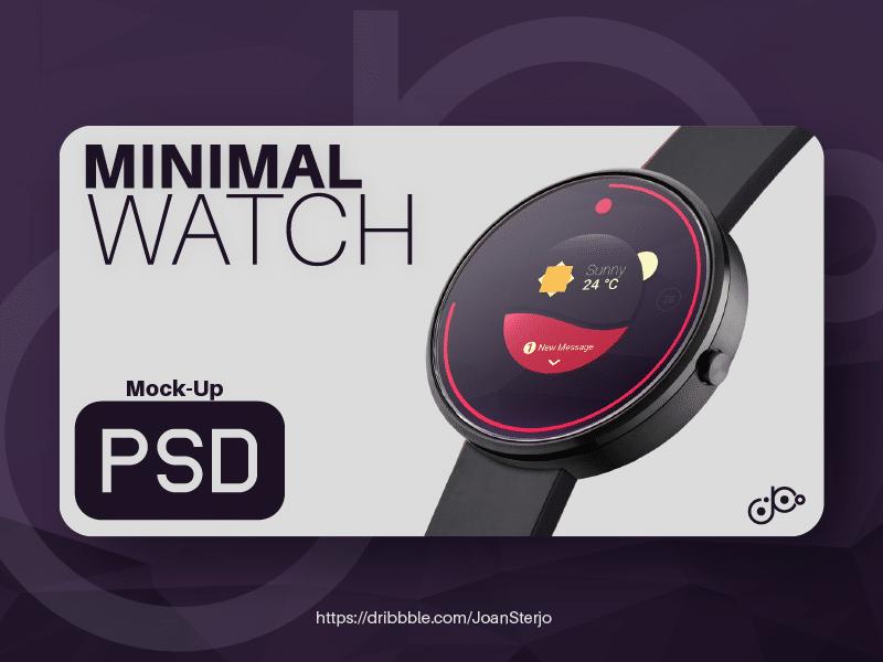Round Minimalist Smartwatch