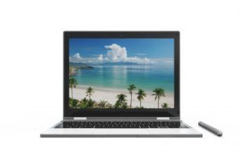 Free Laptop Plus Stylus Mockup in PSD