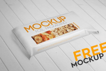 Useful Foil Packaging PSD Mockup