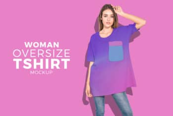 Oversize Women T-shirt PSD Mockup for Ultimate Trendy Look