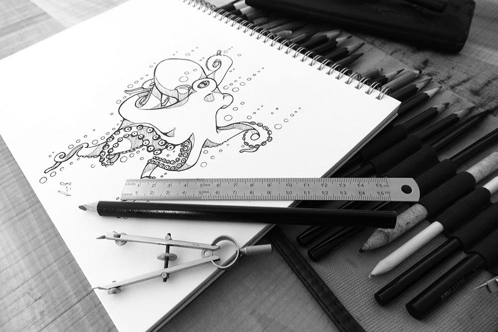 free art sketch mockup