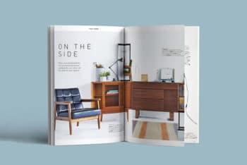 Free Magazine Mockup in PSD