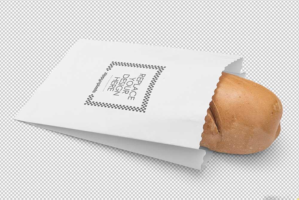 free bread packaging mockup