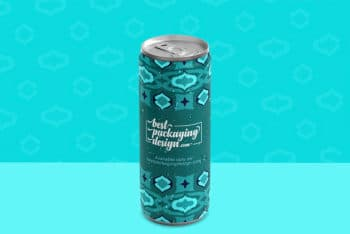 Beverage Can Mockup Free PSD