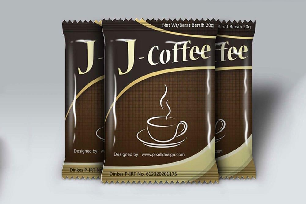 free coffee sachet mockup
