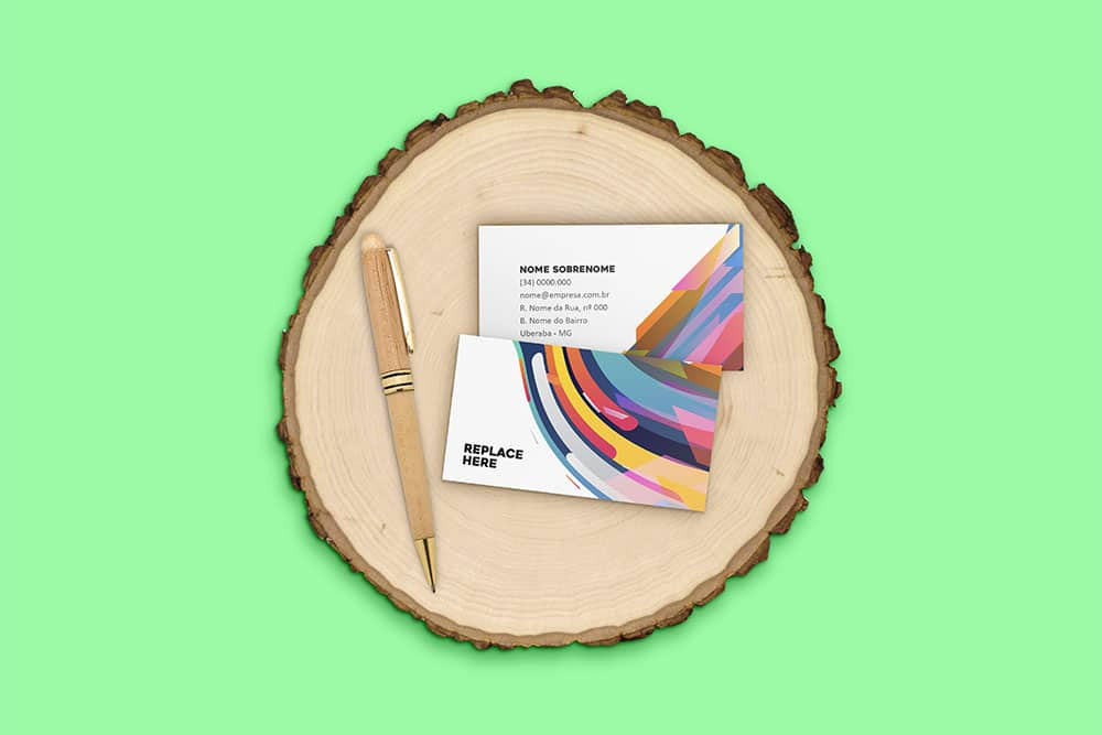 free download business card mockup