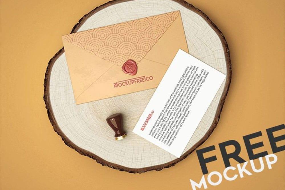 free envelope psd mockup